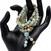 AD Beads Natural Gemstones Buddhist 108 Prayer Healing Beads Mala Stretchy Bracelet Necklace 6mm