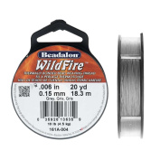 Wildfire Thermal Bonded Beading Thread, .15cm Thick, 20 Yard Spool, Grey