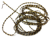 "Brown /Gold Lurex Braided Twisted -Flat Cord -Beading ,1/4"" (4mm) Sewing ,Quilting Trimming - 5 yards"