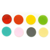 2.5cm - 1.3cm Circle Rainbow Assortment Fusible Pre-Cut 8 Pack - 90 Coe