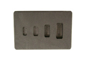 1-2-5-10 Gramme High Density Graphite Gold Bar Mould 4-Cavities - Silver Copper