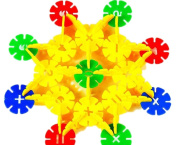 Born Beauty 90pcs Snowflake Toys Baby Toddlers Pre-school Educational Building Block Stacking Toys Set