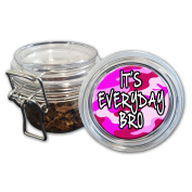 Airtight Stash Jar with Silicone Seal - It's Everyday Bro - Food-Grade Plastic with Locking Wire Top - Smell Proof Hermes Container