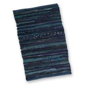 Blue Chindi Rug- 0.6m x 0.9m