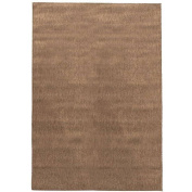 Berrnour Home Summer Collection Natural Solid Design Indoor / Outdoor Area Rug, 1.5m x 2.1m
