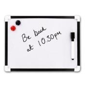 A4 Dry Wipe Magnetic Mini Office Whiteboard Notice Memo White Board Pen & Eraser