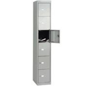 Bisley 6 Door Locker - 2 Keys Per Lock - Label Holders - W305xd305xh180
