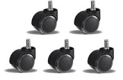 50mm Office Chair Castors Twin Wheel With Rubber Tyres. .