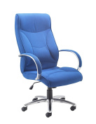 Office Hippo Executive Cushioned Office Chair With Padded Arms, Fabric, Royal