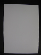 1 X A4 Steel Paper 0.2mm Thick Plain White Both Sides Receptive To Magnets Am444