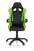 Gaming Chair / Office Chair Racer Pro I Faux Leather Black / Green Hjh Office