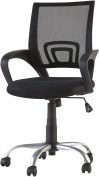 Odette Steel Frame Mesh Back Swivel Office Chair - Black A