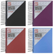 A6 Notebook Ring Bound 600 Pages Ruled Lined Paper Hard Plastic Front Cover Pad