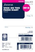Filofax Pocket Week On 2 Pages Diar, 5015142256647