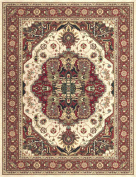 European Stanley Collection Area Rug in Beige-Rust and Oval, Rectangle, Round, Runner Shape