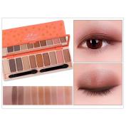 Transer 10 Colours Makeup Eyeshadow Palette Shimmer Matte Eye Shadow Cosmetics Beauty