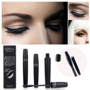 Fenleo 2pcs Qibest Makeup Eyelash Long Curling Fibre 3D Mascara Eye Lashes Extension