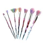 Baomabao 7pcs Eyeshadow Lip Brush Tool Makeup Cosmetic Brushes Set Powder Foundation