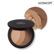 [A:CONCEPT] A:Shape of My Face Triple Contour 11g - 3 Shades Face Contouring Pact, Face Line & Hair Line & Eyebrow & Eye Shadow Makeup