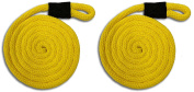 Yellow Nylon Fender Line - 1.3cm x 1.5m - Sold in Pairs - Made in USA