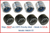 (4) 1.980 Boat Trailer Genuine Bearing Buddy Stainless Steel with Protective Bra & Auto Cheque 1980A-SS 42204