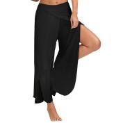 Sinwo Yoga Pants Waist Wide Leg Flowy Pants Women Casual Long Loose Pants