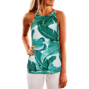 Elaco Summer Style Off Shoulder Camis Crop Top Women Beach Wear Cropped Floral Blouse Casual Sexy Shirt Vest