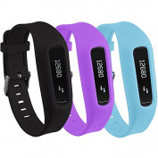 Buckle Bracelet for Fitbit One, Replacement Silicone Band with Chrome Watch Clasp and Fastener Buckle for Fitbit One