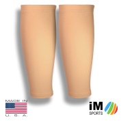 iM Sports GAZELLE Running Compression Calf Sleeves + Reduce Injury + UV Protection + Unisex + Made in USA -