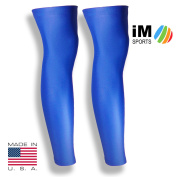 iM Sports CHEETAH Running Compression Leg Sleeves + Reduce Injury + UV Protection + Unisex + Made in USA -