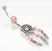 Jesica Vintage Cather Navel Belly Ring Dangling Body Jewellery