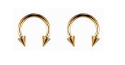 Earrings for Men Gold Punk Hook Titanium Mens Stud Earring 8mm