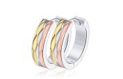 Earrings for Men Hoop Pink Gold Stainless Steel Mens Stud Earring