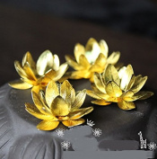 Astra shop 5-Piece Lotus Flower Bead End Caps - Jewellery Making Findings for Earrings,Bracelets ,Necklaces