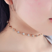 Chicer Gold Crystal Necklace, Fashion Bead Necklace for Women & Girls.