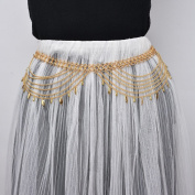 Summer clothes chain Water droplets tassel multi - layer waist chain