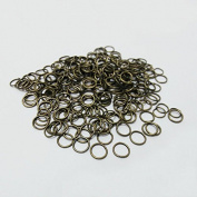 100-Piece Open Jump Rings, 4mm, small clasp hooks crimp Ends beads connector