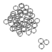 200pcs Silver Tone Stainless Steel Open Jump Rings for Jewellery Making 8mm x 1.5mm