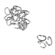 100pcs Silver Tone Stainless Steel Oval Open Jump Rings for Jewellery Making 6.5mmx5mm