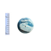 Surfer Button Surf's Up Pin Gift For Surfer Waves Backpack Jacket Pin Pinback 2.5cm