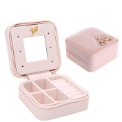 Faux Leather Cosmetic Jewellery Necklace Ring Travel Storage Box Case Display