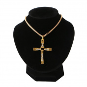 Itemap Mannequin Velvet Necklace Pendant Chain Jewellery Bust Neck Display Holder Stand