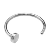 6MM Nose Ring Surgical Steel Silver Piercing Stud Thin Small Tiny Cartilage