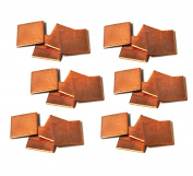 NinjaCrafters Tiny 20g Copper Square Stamping Blanks, 1.3cm - 24 pc. Metal Stamping Blanks