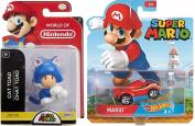 Cartoon Hot Wheels Character Car 2017 Super Mario Video Game Car & Blue Cat Toad Action Mini Figure Pack