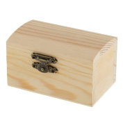 MonkeyJack Blank Unfinished Cambered Shape Wooden Box Gift Jewellery Box DIY Base for Kids Toys Crafts