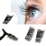 CSSD Ultra-thin 0.4mm Magnetic Eye Lashes 3D Reusable False Magnet Eyelashes