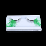Fancy and Colourful Soft Long Stage Feather False Eyelashes Hand-made Natural Long and Curly Good for Dance Halloween Costume by PSFS