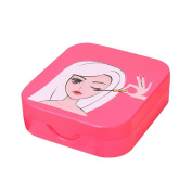 Eyelashes Case,Aritone Acrylic Cute Bow False Eyelash Storage Box Makeup Cosmetic With Mirror