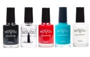 MoYou Nails Bundle of 5 Stamping Nail Polish